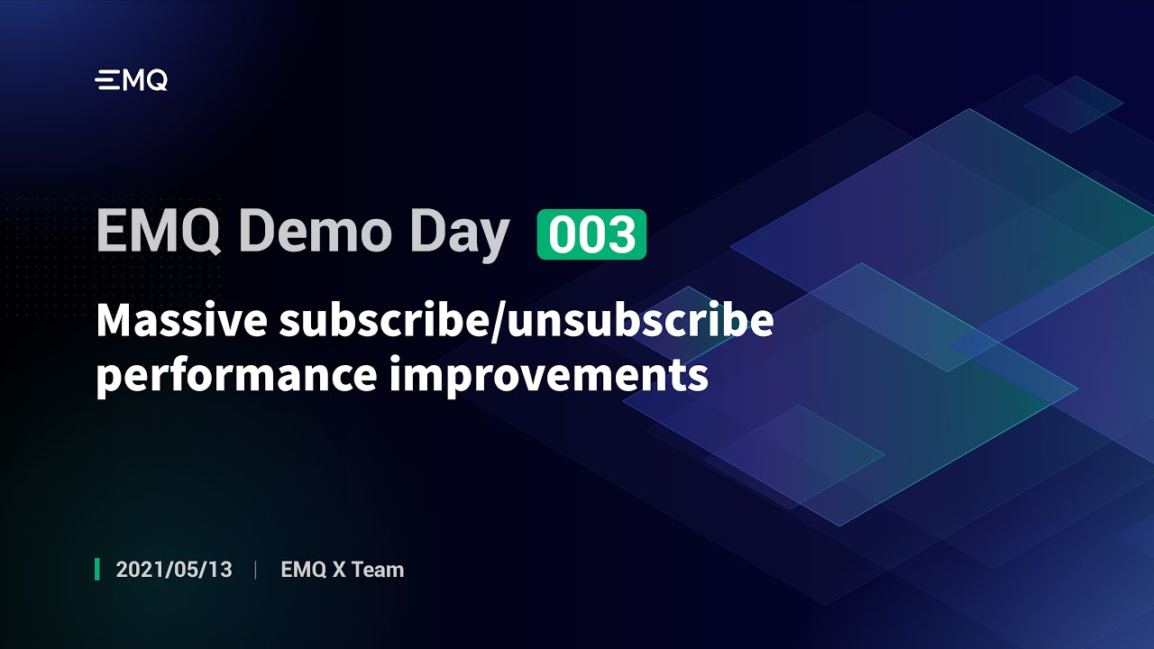 Massive subscribe/unsubscribe performance improvements
